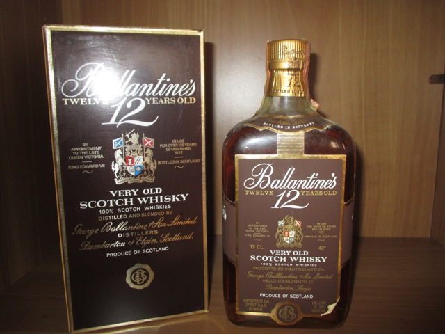 Ballantine's 12 years old bottle