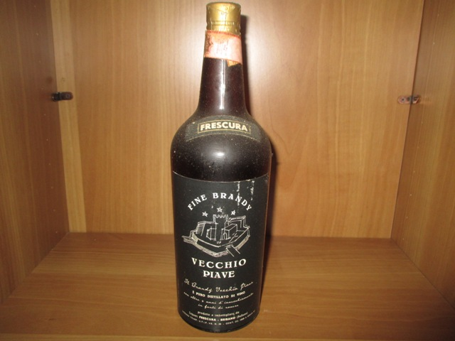 Brandy Vecchio Piave old bottle